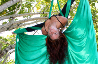 Green Tree Goddess on Silks